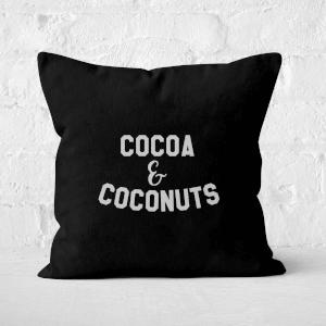 Cocoa And Coconuts Square Cushion