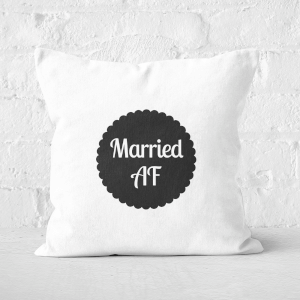 Married AF Square Cushion