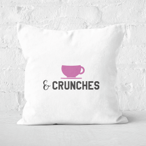 Coffee And Crunches Square Cushion