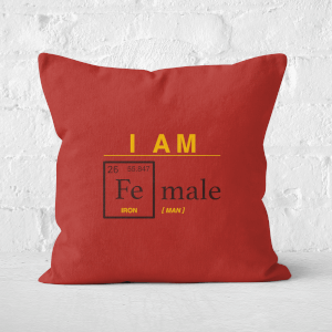 I Am Fe Male Square Cushion