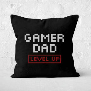 Gamer Dad Level Up Square Cushion