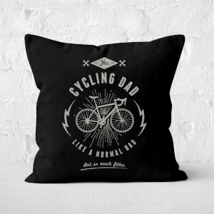 Cycling Dad Square Cushion