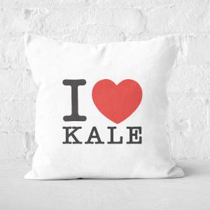 I Heart Kale Square Cushion