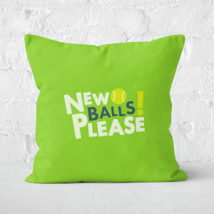 New Balls Please Square Cushion