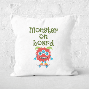 Monster On Board Square Cushion