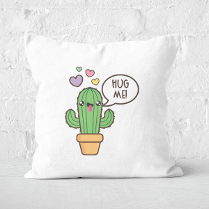 Hug Me Cactus Square Cushion