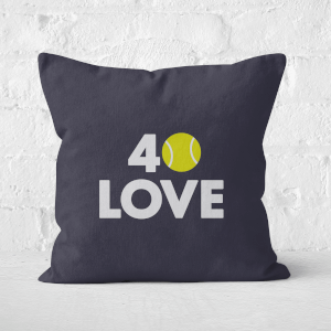40 Love Square Cushion
