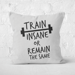 Train Insane Or Remain The Same Square Cushion
