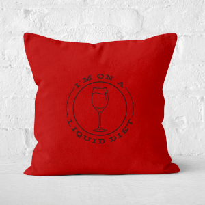 Liquid Diet Wine Square Cushion
