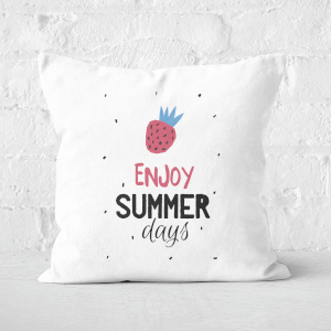 Enjoy Summer Days Square Cushion