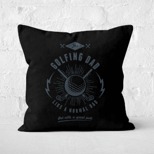 Golfing Dad Square Cushion