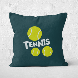 Tennis Balls Square Cushion