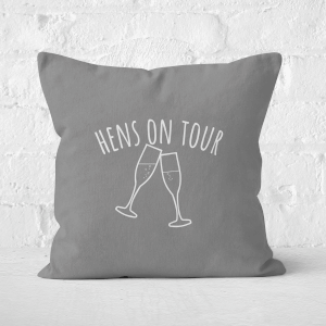 Hen's On Tour Square Cushion