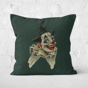 Pressed Flowers Happy Clown Square Cushion