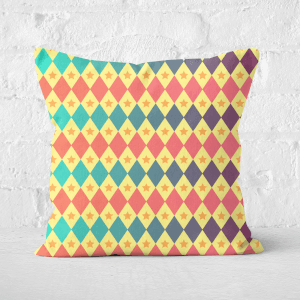 Pressed Flowers Big Top Pattern Square Cushion
