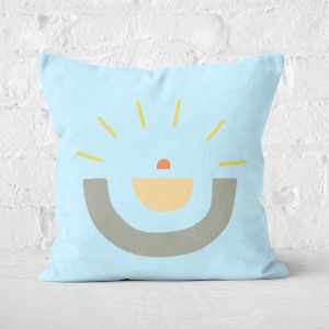 Earth Friendly Abstract Sun Square Cushion