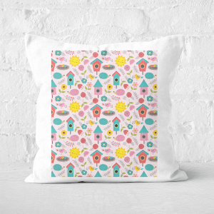 Pressed Flowers Easter Community Square Cushion