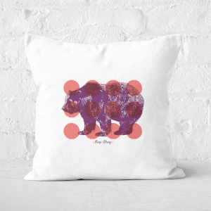 Pressed Flowers Keep Strong Square Cushion