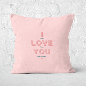 I Love You Square Cushion