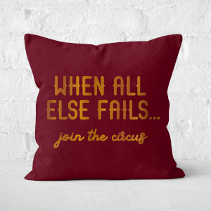 Pressed Flowers When All Else Fails, Join The Circus Square Cushion