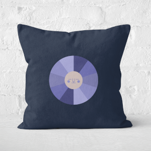 Pressed Flowers Colours Of The Night Square Cushion