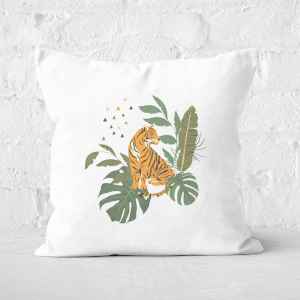Pressed Flowers Majestic Queen Square Cushion
