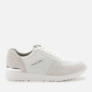 MICHAEL MICHAEL KORS Women's Allie Suede Running Style Trainers - Optic White