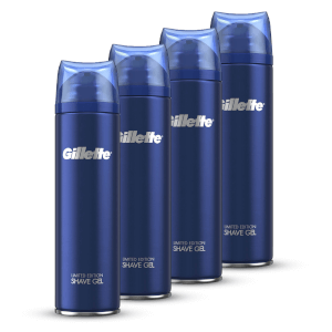 Gillette Fusion5 Ultra Sensitive Shaving Gel 200ml (4 Pack - 6 Month)