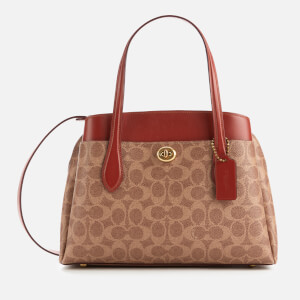 Coach Women's Signature Lora Carryall 30 Tote Bag - Tan Rust