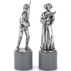 Piezas de ajedrez Luke & Leia Star Wars (Rey/Reina) - Royal Selangor