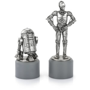 Royal Selagnor Star Wars Pewter Chesspieces - R2D2 and C3PO (Knight)