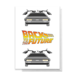 Back To The Future DeLorean Greetings Card