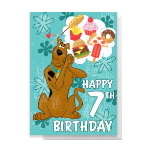Scooby Doo 7th Birthday Greetings Card