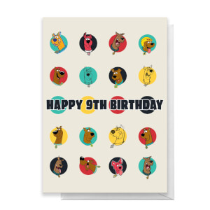 Scooby Doo 9th Birthday Greetings Card