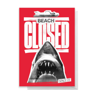 Jaws Beach Closed Greetings Card
