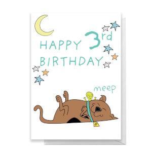 Scooby Doo 3rd Birthday Greetings Card