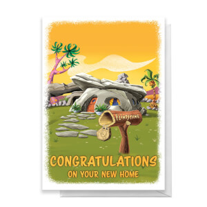 Flintstones New Home Greetings Card