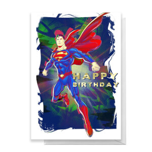 Superman Happy Birthday Greetings Card