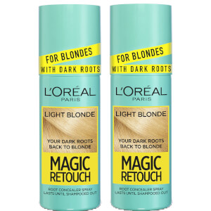 L'Oréal Paris Magic Retouch Light Blonde Root Concealer Spray Duo Pack