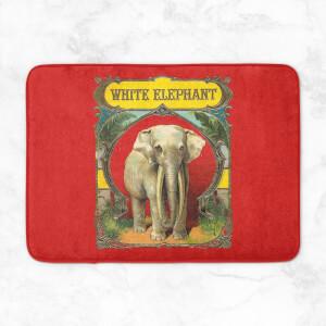 White Elephant Bath Mat