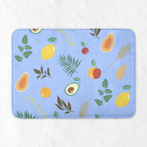 Leaves And Fruit Bath Mat