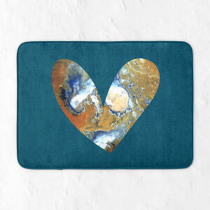 Heart Earth Bath Mat