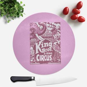 King Bros Three Ring Circus Round Chopping Board