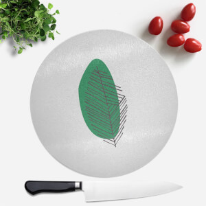 Slanted Leaf Round Chopping Board
