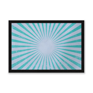 Circus Beams Blue Entrance Mat