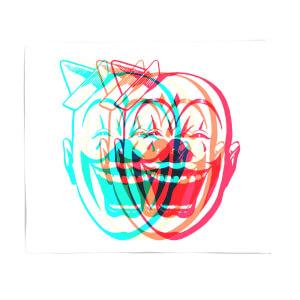 Psychedelic Clown Fleece Blanket