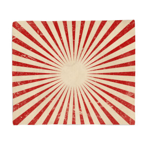 Circus Beams Red Fleece Blanket