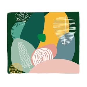 Pastel Garden Fleece Blanket