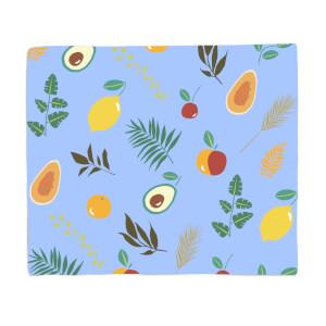 Leaves And Fruit Fleece Blanket