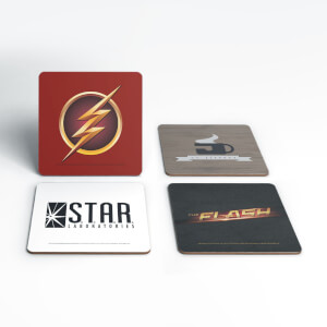 DC Flash TV Coaster Set